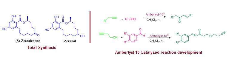 total synthesis and Amberlyst-15 calalysis